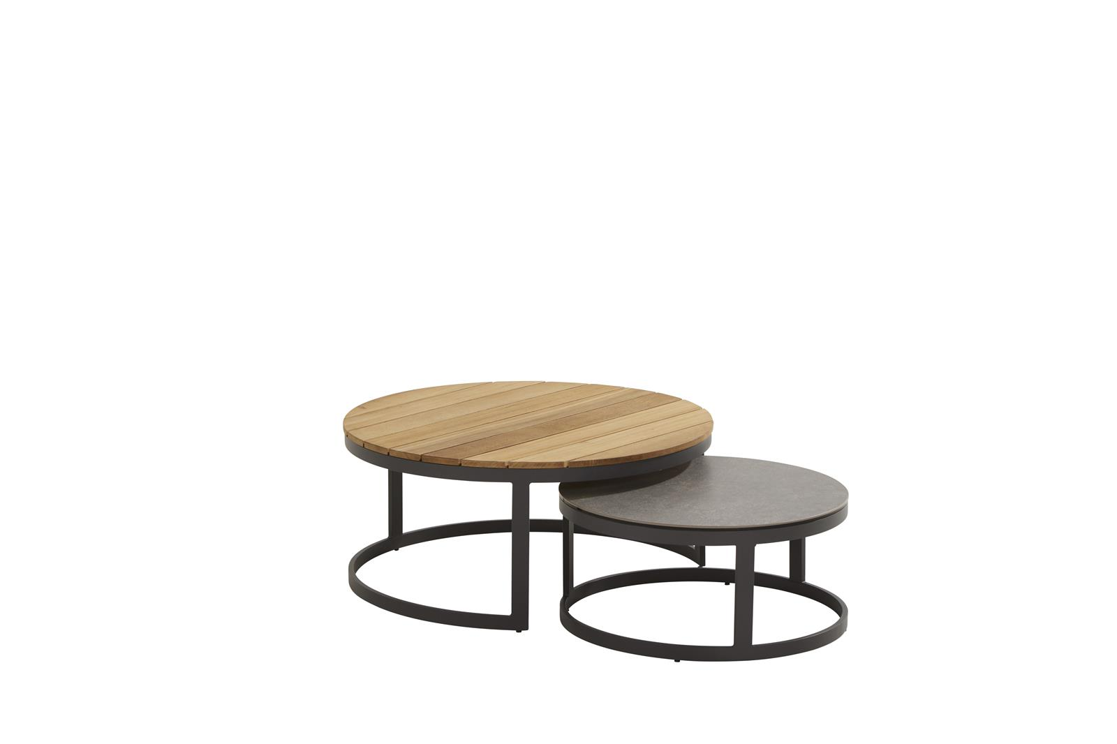 91024_ Stonic set of 2 coffee tables 80 and 60 cm teak and ceramic.jpg